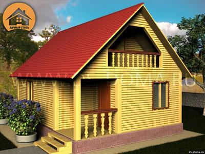 Дом из бруса 7x8 м. от компании Дачный Стиль