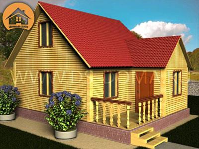 Дом из бруса 6x7 м. от компании Дачный Стиль