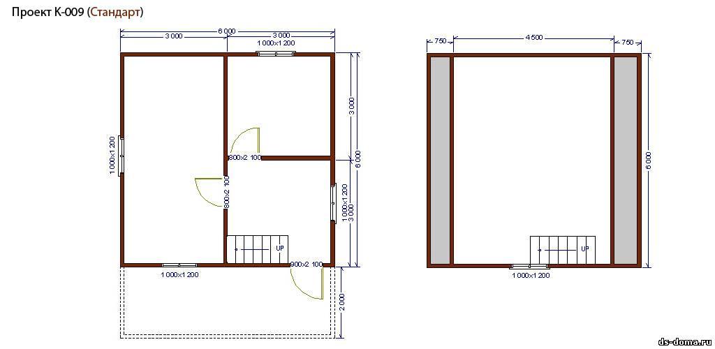 Каркасный дом проект к 009 размер 6 0 на
