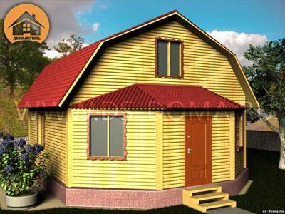 Брусовой дом 8x7 м. от компании Дачный Стиль