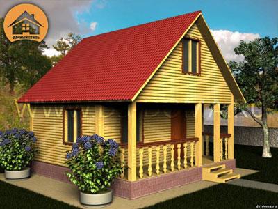 Дом из бруса 6x8 м. от компании Дачный Стиль