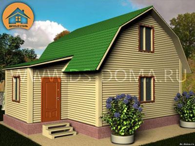 Проект дома 6x7.5 м. от компании Дачный Стиль