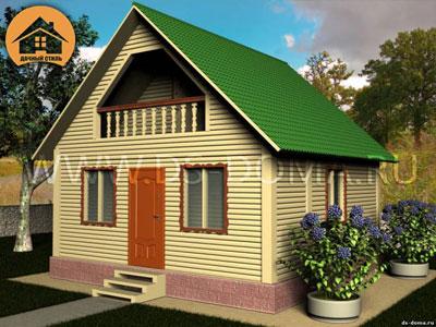 Проект дома 6x6 м. от компании Дачный Стиль