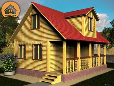 Брусовой дом 6x9 м. от компании Дачный Стиль