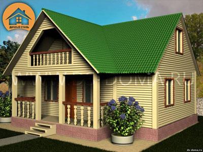 Проект дома 7.5x10 м. от компании Дачный Стиль
