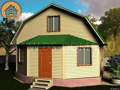 Каркасный дом 7x8 м. от компании Дачный Стиль