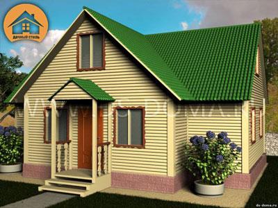 Каркасный дом 8x10 м. от компании Дачный Стиль
