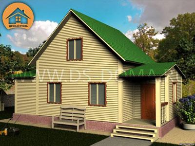 Каркасный дом 6x10 м. от компании Дачный Стиль