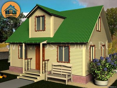 Проект дома 6x9 м. от компании Дачный Стиль
