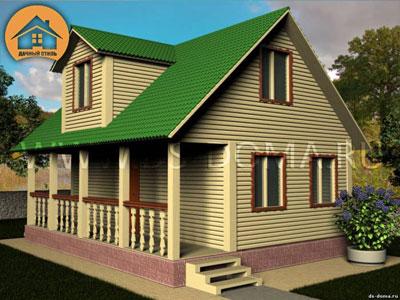Каркасный дом 6x9 м. от компании Дачный Стиль