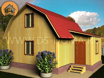 Брусовой дом 6x7.5 м. от компании Дачный Стиль