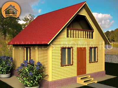 Брусовой дом 6x6 м. от компании Дачный Стиль