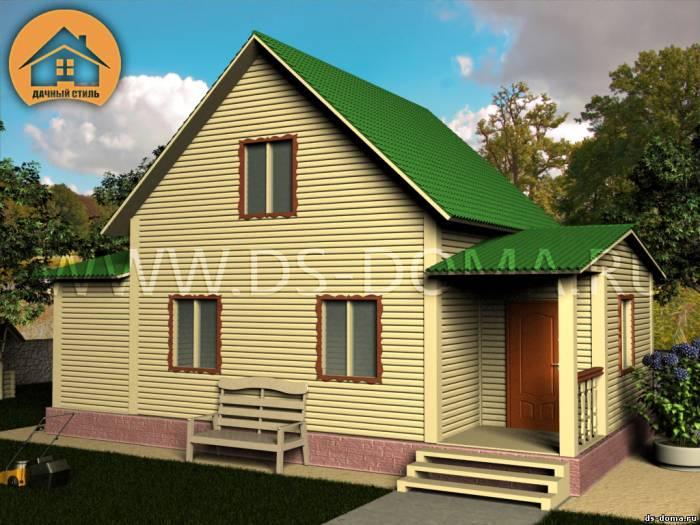 Каркасный дом: проект К-018 размер: 6.0 на 10.0 м.. Дома под ключ, от компании Дачный Стиль.