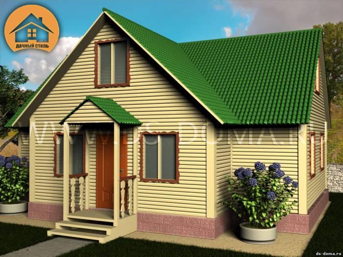 Каркасный дом: проект К-016 размер: 8.0 на 10.0 м.. Дома под ключ, от компании Дачный Стиль.