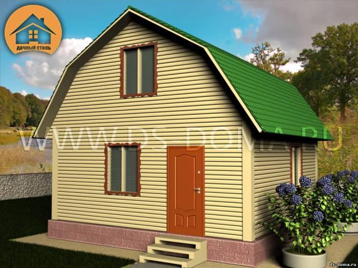 Каркасный дом: проект К-005 размер: 6.0 на 6.0 м.. Дома под ключ, от компании Дачный Стиль.