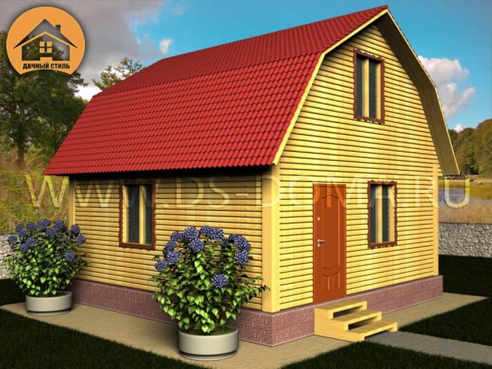 Проект Д-005 размер: 6.0 на 6.0 м.. Дома под ключ под ключ, от компании Дачный Стиль.