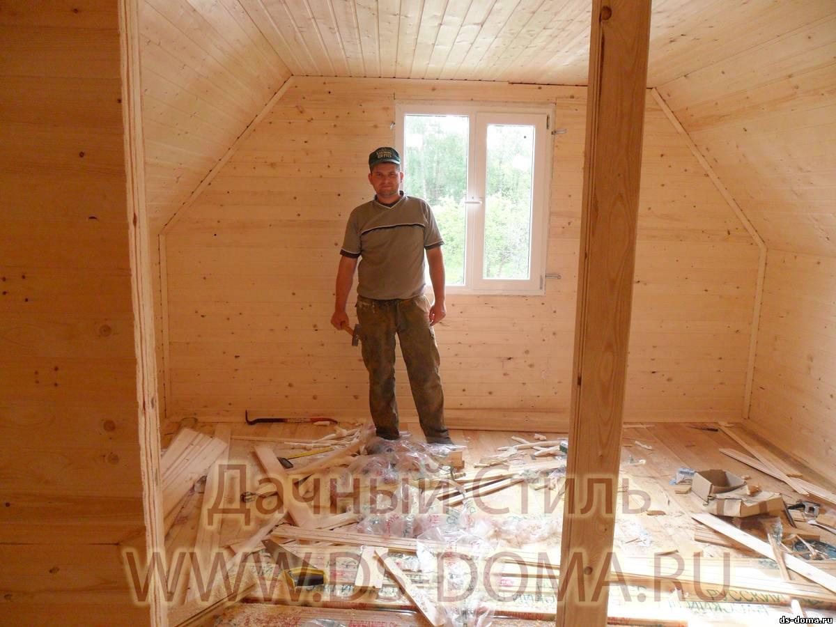 Как сделать мансарду в деревянном доме своими руками фото