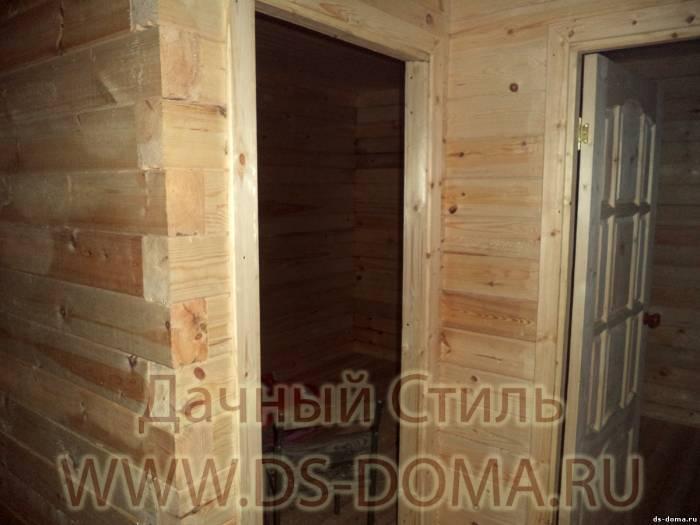 установка металлической двери в брус цены